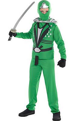 Boys Green Ninja Avenger Costume Deluxe