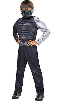 Boys Winter Soldier Muscle Costume - Captain America 2