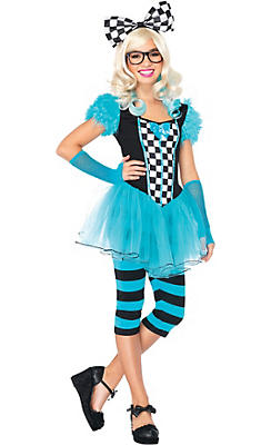 Teen Girls Hipster Alice Costume
