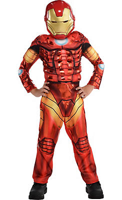 Boys Iron Man Muscle Costume Deluxe