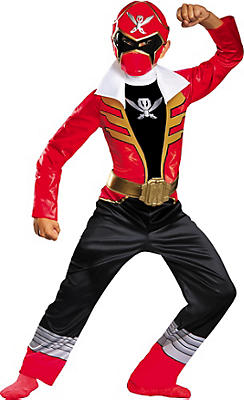 Boys Red Ranger Costume - Power Rangers Super Megaforce