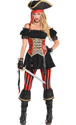 Adult Lassie Lady Pirate Costume