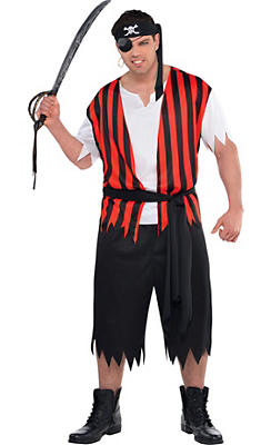 Adult Ahoy Matey Pirate Costume Plus Size
