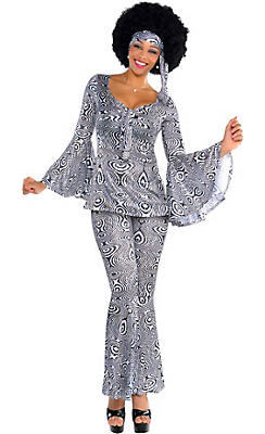 Adult Dancing Queen Disco Costume