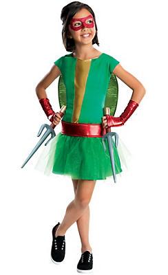 Girls Raphael Costume Deluxe - Teenage Mutant Ninja Turtles