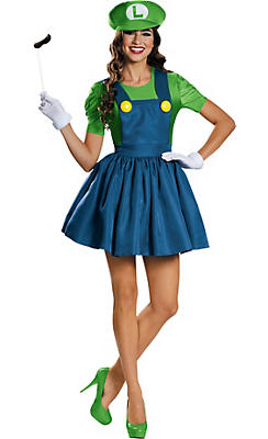 Adult Miss Luigi Costume - Super Mario Brothers