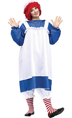 Adult Raggedy Ann Costume Plus Size