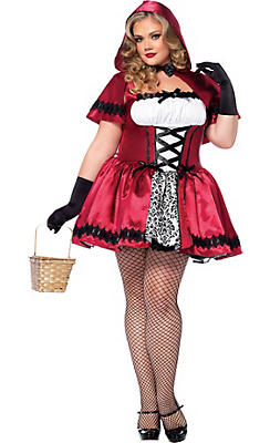 Adult Gothic Red Riding Hood Costume Plus Size
