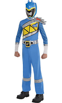 Boys Blue Ranger Jumpsuit Costume - Power Rangers Dino Charge