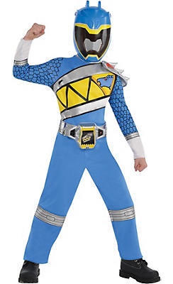 Little Boys Blue Ranger Jumpsuit Costume - Power Rangers Dino Charge