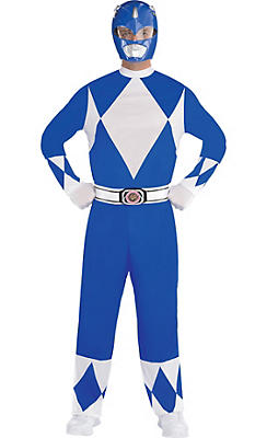 Adult Blue Power Ranger Costume - Mighty Morphin Power Rangers