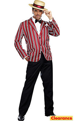 Adult Good Times Charlie Barbershop Quartet Costume
