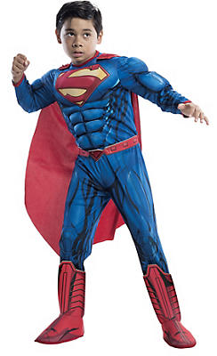 Boys Superman Muscle Costume Deluxe - Superman Comic Book