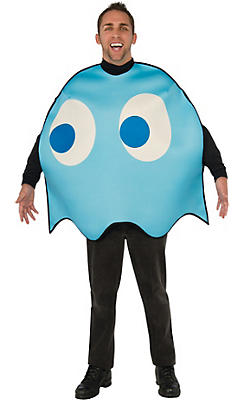 Adult Inky Blue Ghost Costume - Pac-Man