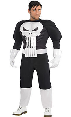 Adult Punisher Muscle Costume Plus Size