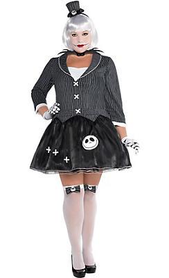 Adult Lady Jack Skellington Costume Plus Size - Nightmare Before Christmas