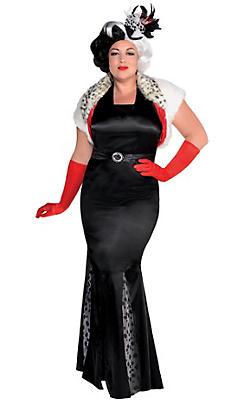Adult Cruella De Vil Costume Couture Plus Size - 101 Dalmatians