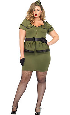 Adult Commander Cutie Army Costume Plus Size