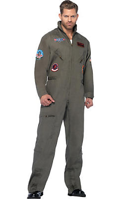 Adult Flight Suit Costume Plus Size - Top Gun