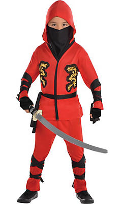 Toddler Boys Fire Dragon Ninja Costume