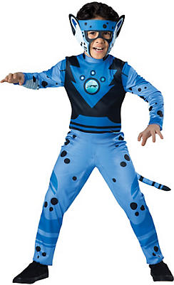 Boys Blue Cheetah Muscle Costume - Wild Kratts