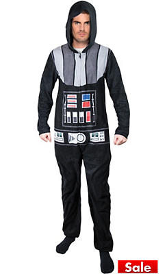 Darth Vader One-Piece Pajama Costume - Star Wars