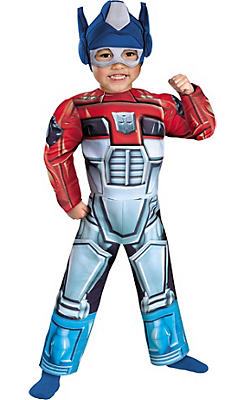 Toddler Boys Optimus Prime Muscle Costume - Transformers: Rescue Bots