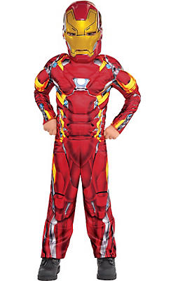 Little Boys Iron Man Muscle Costume - Captain America: Civil War