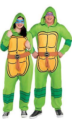 Adult Zipster Teenage Mutant Ninja Turtles One Piece Costume Plus Size