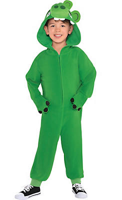 Little Boys Zipster Leonard Pig One Piece Costume - The Angry Birds Movie