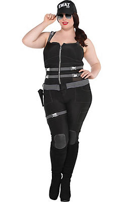 Adult Armed & Dangerous SWAT Costume Plus Size