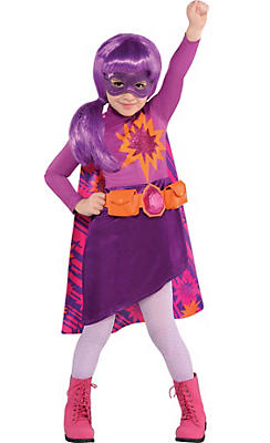 Toddler Girls Purple Superhero Barbie Costume