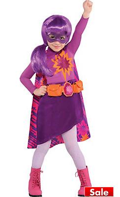Toddler Girls Purple Superhero Barbie Costume