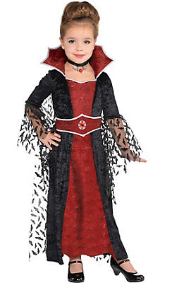 Little Girls Coffin Queen Vampire Costume