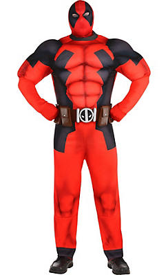 Adult Deadpool Muscle Costume Plus Size
