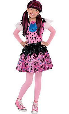Girls Draculaura Costume - Monster High
