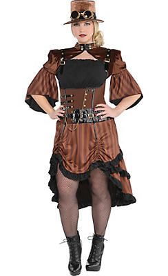 Adult Steamy Dreamy Steampunk Costume Plus Size