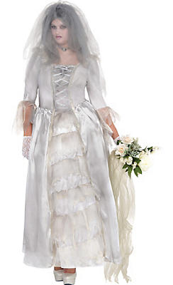 Adult Ghost Bride Costume Plus Size