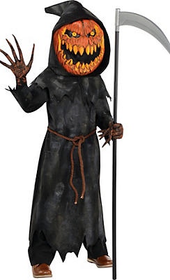 Little Boys Jack-o'-Lantern Reaper Costume