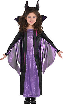 Little Girls Maleficent Costume - Sleeping Beauty