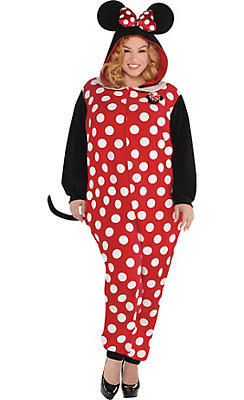Adult Zipster Minnie Mouse One Piece Costume Plus Size