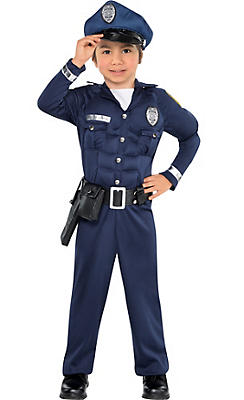 Toddler Boys Cop Muscle Costume