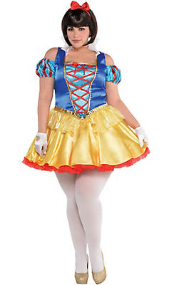 Adult Snow White Costume Plus Size - Snow White and the Seven Dwarfs