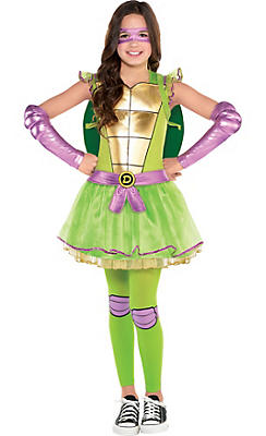 Girls Donatello Costume - Teenage Mutant Ninja Turtles