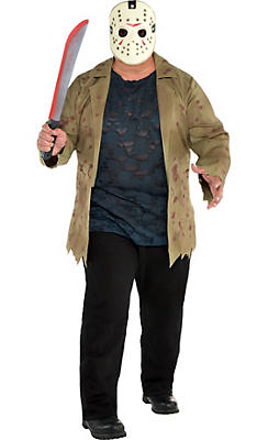 Adult Jason Voorhees Costume Plus Size - Friday the 13th