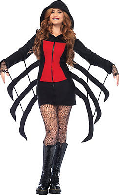 Adult Cozy Black Widow Spider Costume