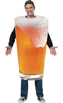 Adult Bubbly Beer Pint Costume