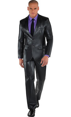 Adult Metallic Black Suit