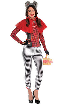 Adult Little Red Riding Hood Wolf Costume Deluxe