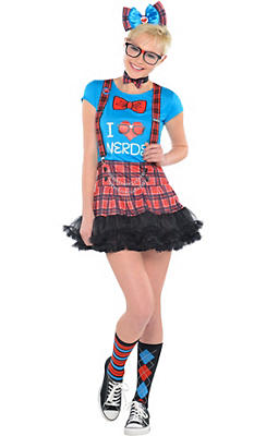 Girls Geek Chic Nerd Costume